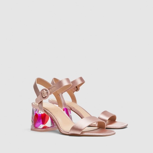 6dbf9370c14 Zara satin sandals with embellished heels